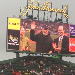 Dale Peterson at Fenway Park Celebrating PEN New England's Inauguration of of the Sports Writing Hall of Fame